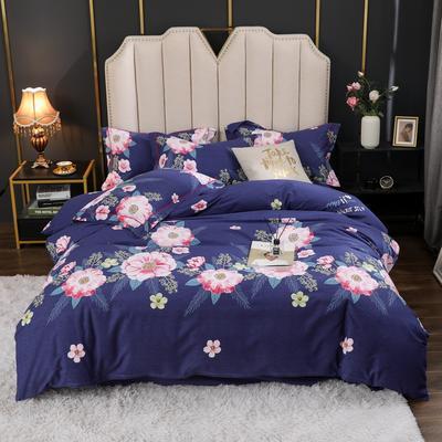 2020新款-全棉生态磨毛四件套 被套180x220cm床单款四件套 万紫千红