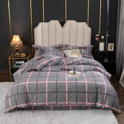 2020新款-全棉生态磨毛四件套 1.2m床单款三件套 英伦风情