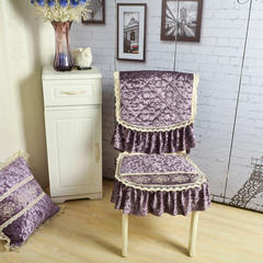 凯丽戴安娜餐椅垫 欧式椅垫 凯丽戴安娜-紫色
