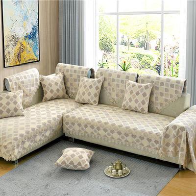 沙发垫 90*90 福在眼前-驼色