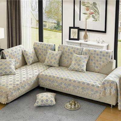 沙发垫 90*70 福在眼前-银灰