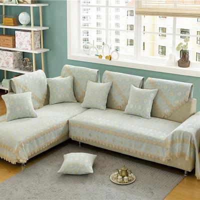 沙发垫 90*70 蕉叶纹(浅绿)
