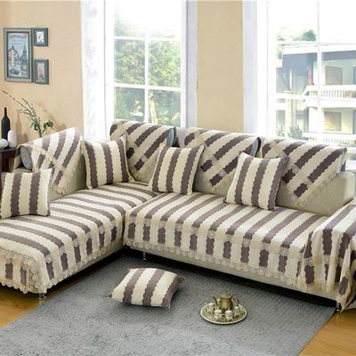 沙发垫 90*90 素菲(咖啡条)