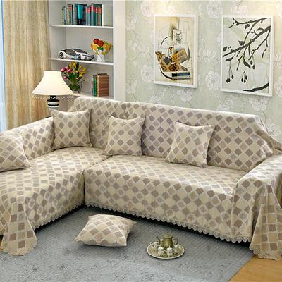 沙发罩 180*150 福在眼前-驼色