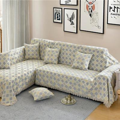 沙发罩 180*150 福在眼前-银灰
