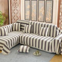 沙发罩 45*45cm抱枕套子/个 素菲(咖啡条)