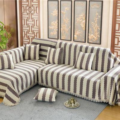 沙发罩 180*150 素菲(咖啡条)
