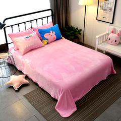 法莱绒床单单件 枕套1对 小猪佩奇