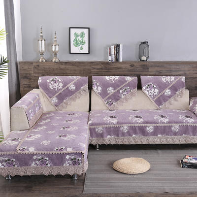 沙发垫 90*90 紫妍