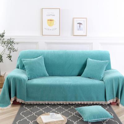 2019新款北欧纯色雪尼尔沙发巾 180*150cm 纯净-青