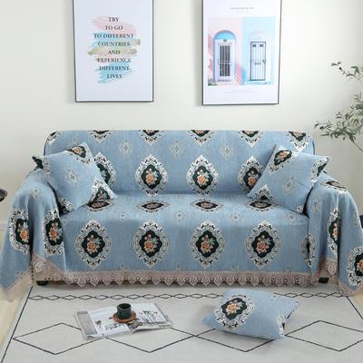 2020新款雪尼尔沙发巾花型1 180*150cm 梦境花园