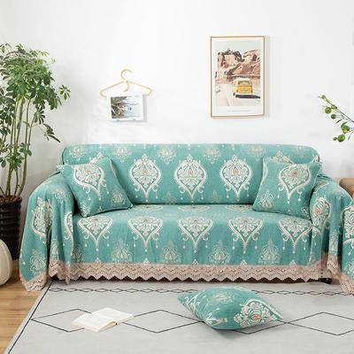 2020新款雪尼尔沙发巾花型2 180*150cm 流星雨