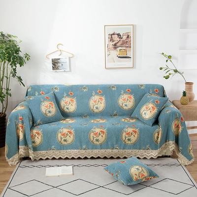 2020新款雪尼尔沙发巾花型2 180*150cm 梅上枝头
