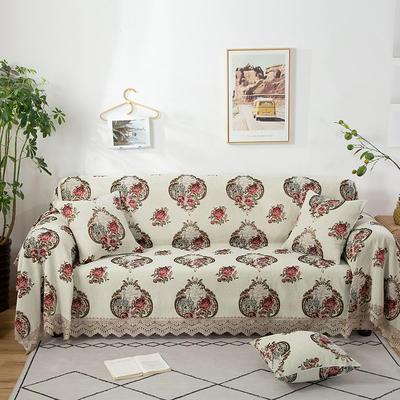 2020新款雪尼尔沙发巾花型2 180*150cm 玫瑰情缘
