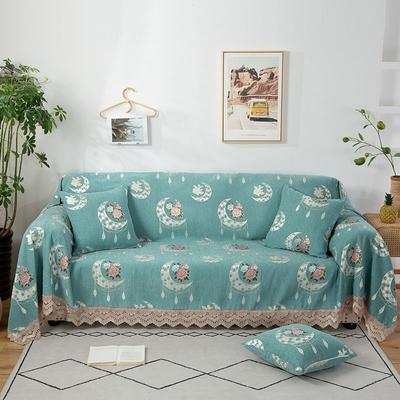 2020新款雪尼尔沙发巾花型2 180*150cm 月亮玫瑰