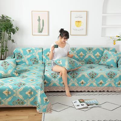 2020新款雪尼尔沙发巾花型2 180*150cm 清新怡人