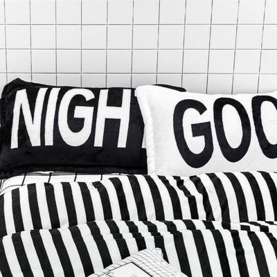 印花枕套(48*74CM) GOOD NIGHT