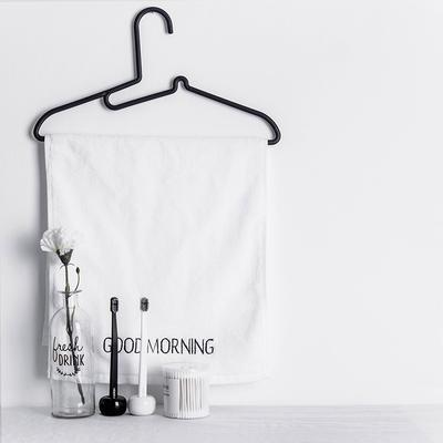 塑料干湿两用衣架(黑、白) 40.5*20.7*0.7cm (黑)