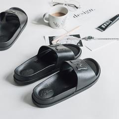 morning    拖鞋(黑  白) 38-39码 黑色