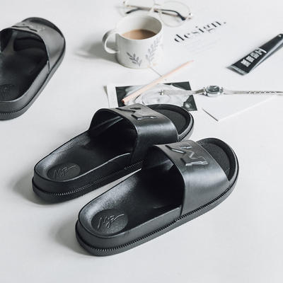 morning    拖鞋(黑  白) 42-43码 黑色