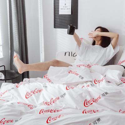 2019春季新品-恶搞系列全棉四件套 1.2m 床单款 可可3
