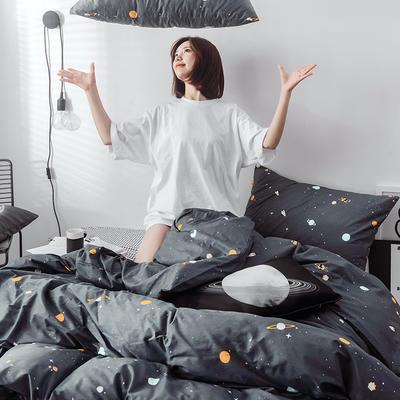2019新品-星球系列全棉四件套 1.2m 床单款 宇宙2