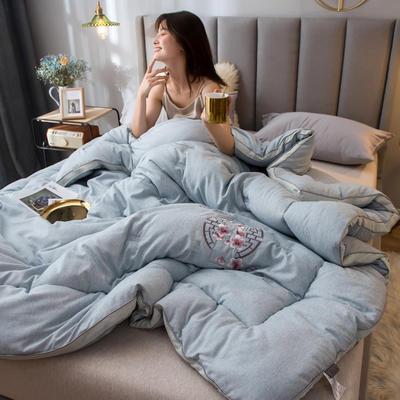2019新款-云朵绒被子被芯 150x200cm6斤 醉梦影-蓝