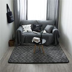 地毯地垫 (定制款) 190cm*300cm 大客厅垫 灰色格调