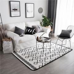 地毯地垫 (定制款) 190cm*230cm大客厅垫 时尚黑线条