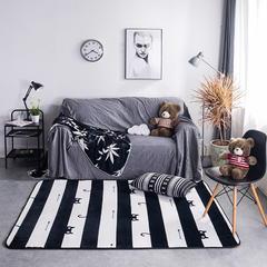 地毯地垫 (定制款) 190cm*300cm 大客厅垫 北欧条纹猫