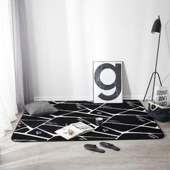凤凰林 地垫 100cm*160cm床边垫 黑色空间