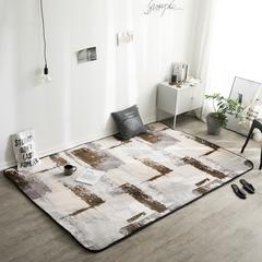 地毯地垫 (定制款) 120cm*190cm 床边垫 抽象艺术 可定制