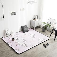 地毯地垫 (定制款) 160cm*240cm 大客厅垫 独角兽 可定制
