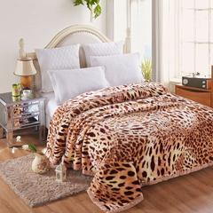 凤凰林 毛毯 加厚双层 拉舍尔毛毯4斤-12斤全规格 150*200cm4斤 经典豹纹