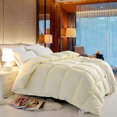 磨毛压花羽丝绒冬被 150*210cm(3斤) 米黄