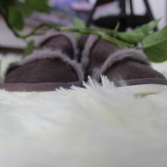 家居拖鞋-皮毛一体(女款) 女款39-40适合38-40脚 咖啡