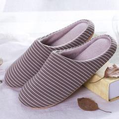 家居拖鞋-简约条纹(男款) 男款42-43适合39-41脚 咖细条