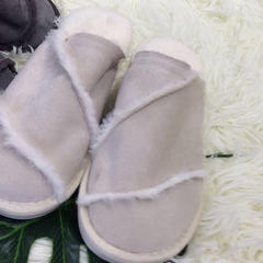 新品拖鞋皮毛一体(女款) 40 白色