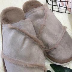 新品拖鞋皮毛一体(女款) 40 棕色