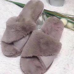新品拖鞋皮毛一体鱼嘴款(男款) 41 棕色