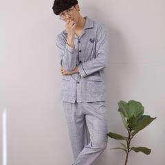 针织棉男款 L(100-135斤) 淡蓝