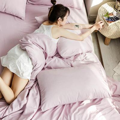 oneday 水洗天丝四件套真丝床上用品【江户紫】 1.2m(4英尺)床 江户紫