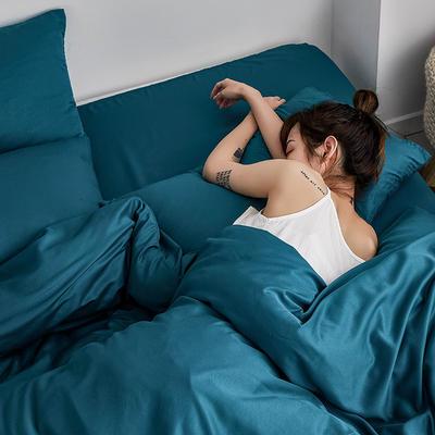 【总】oneday 水洗天丝四件套真丝床上用品 1.2m(4英尺)床 猎户绿
