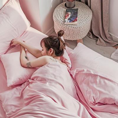 【总】oneday 水洗天丝四件套真丝床上用品 1.2m(4英尺)床 山桃粉