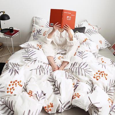 【总】oneday 纯棉四件套全棉床上用品 1.2m(4英尺)床 果子树下