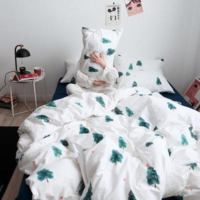 【总】oneday 纯棉四件套全棉床上用品 1.8m(6英尺)床 四季奶青