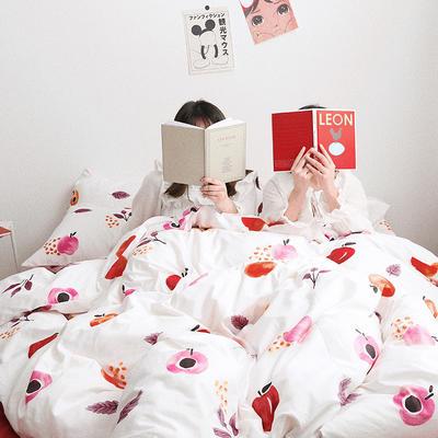 【总】oneday 纯棉四件套全棉床上用品 1.8m(6英尺)床 乌龙红了