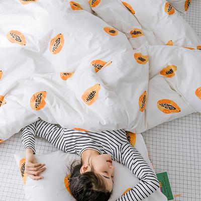 【总】oneday 纯棉四件套全棉床上用品 1.2m(4英尺)床 觅香果