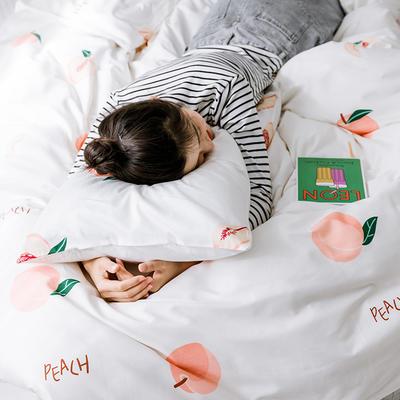 【总】oneday 纯棉四件套全棉床上用品 1.2m(4英尺)床 蜜桃派