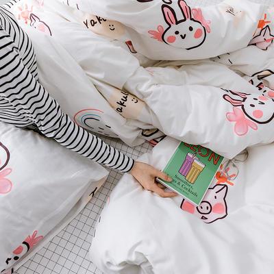【总】oneday 纯棉四件套全棉床上用品 1.2m(4英尺)床 巧乐兹